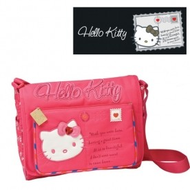 Hello Kitty Umhängetasche 34cm schwarz