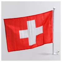 HAUSER Autofahne mit Stab Schweiz
