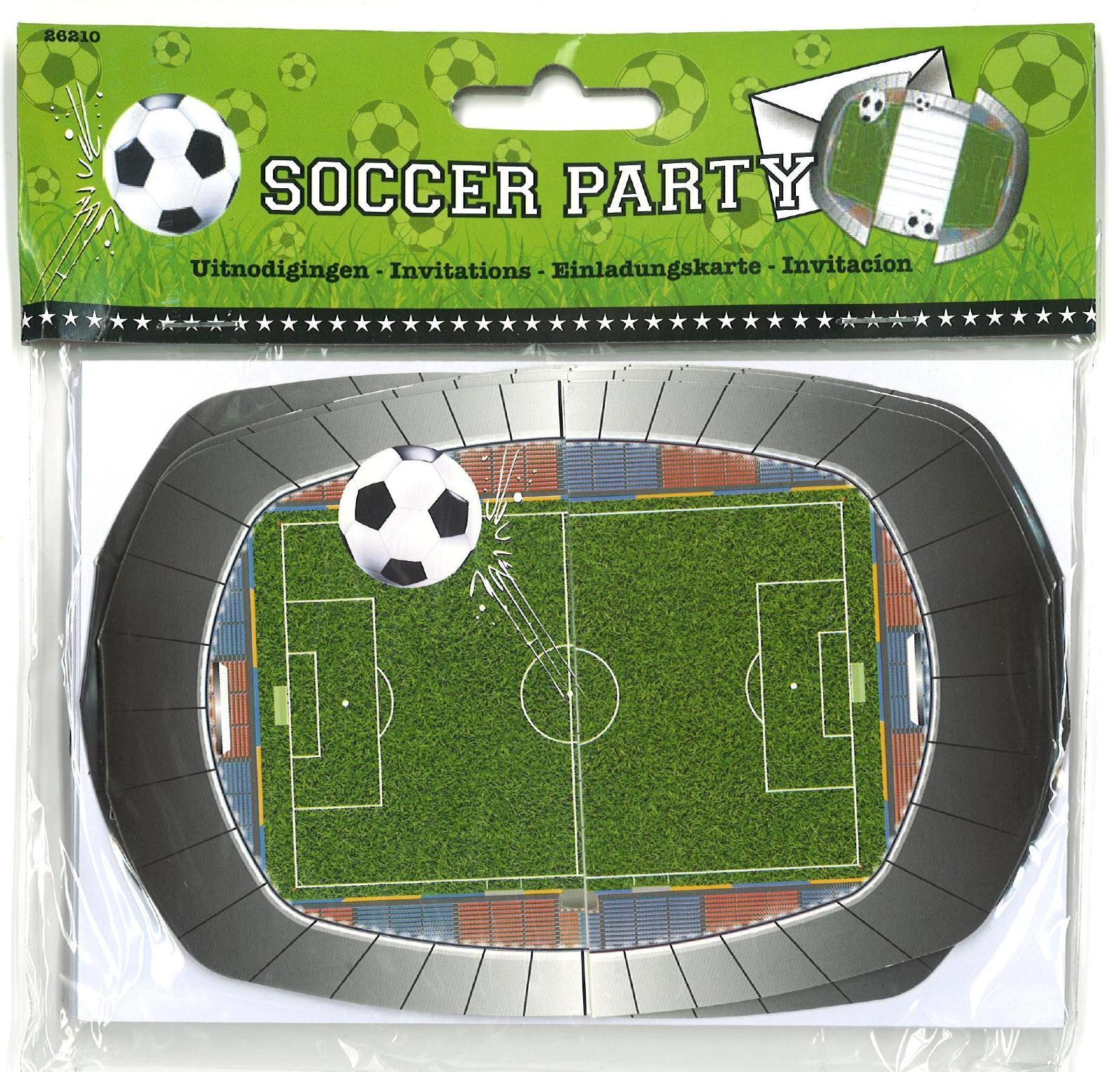 party-einladungskarten fussball   party deko