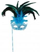 Blaue Augenmaske mit Stab