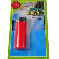 Spritz-Feuerzeug rot Scherzartikel