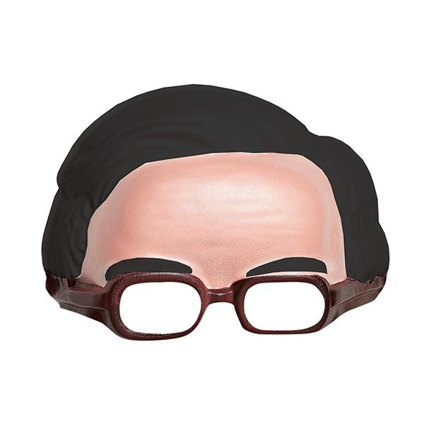 Fasnacht Maske mit schwarzen Haaren