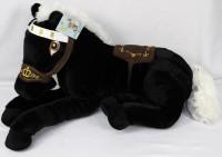 Plüsch Pferd schwarz liegend