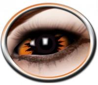 Kontaktlinse Sclera 22mm oranger Dämon