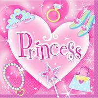 Amscan 16 Servietten Prinzessin