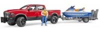 BRUDER RAM 2500 Power Wagon mit Anhänger, Personal Water Craft