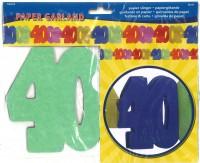Papiergirlande 40 Jahre