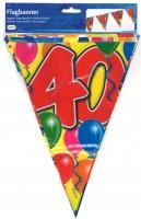 Wimpelkette Birthday Ballone 40 Jahre