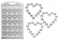Dekoperlen Sticker-Herz