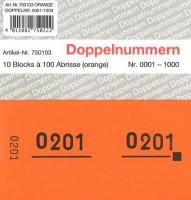 Doppelnummer orange 120x60mm 1-1000