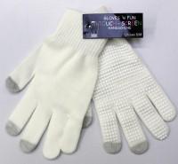 Touch-Screen Handschuhe weiss S/M