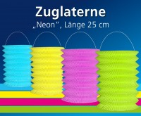 Lampion Zuglaterne Neon