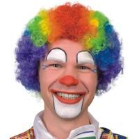 Fasnacht Clown Perücke Curly vielfarbig