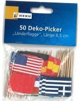 Zahnstocher Länderflaggen