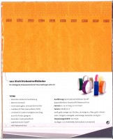 Kontrollbänder Tyvec orange