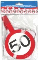 Girlande Verkehrsschild 50 Jahre