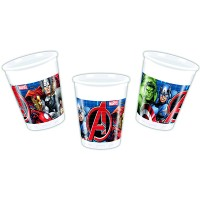 8 Plastikbecher Avengers Power