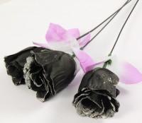 Glitterrose schwarz