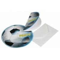 6 Einladungssets Fussball