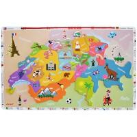 Janod Magnetkarte Schweiz 24tlg.