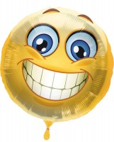 Silberfolienballon Emoticon Smile