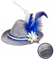 Bayernhut mit blauen & weissen Federn