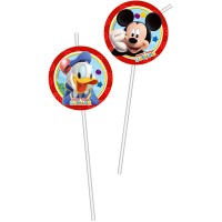 Mickey Mouse 6 Trinkhalme Mickey Mouse 24cm