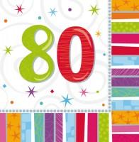 Servietten Radiant 80 Jahre