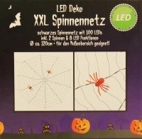 XXL LED Spinnennetz