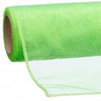 Dekoband organza neon grün 12x300cm 100% Polyamid gerollt, umgenäht