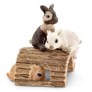Kaninchenjungen spielend Schleich Figuren