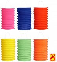 6 farbige Lampions