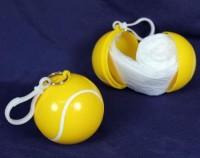 Regenschutz in Tennisball