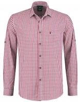 Trachtenhemd Weinrot kariert XL