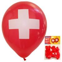 10 Ballone Schweizerkreuz