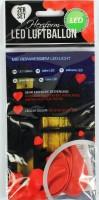 Roter Herzluftballon mit LED