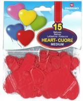 Herzballone rot