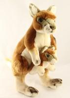 Plüsch Känguru mit Baby 40cm