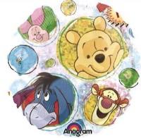 Silberfolienballon Pooh Clear Holographic rund