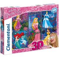 Clementoni Puzzle 3D Princess,  104 teilig