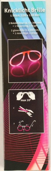 Pinke Knicklichtbrille