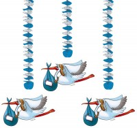 Rotorspirale Storch mit Junge zur Geburt