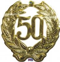 Wanddekoration Jubiläum 50 Jahre