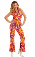 Retro Jumpsuit Orchideen S