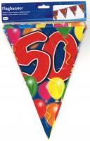 Wimpelkette Birthday Ballone 50 Jahre