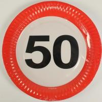 Partyteller Verkehrsschild 50 Jahre