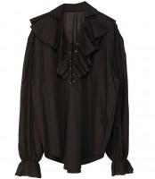 Piratinnenhemd schwarz M