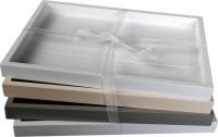 4er-Set rechteckige Holztablett
