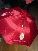 Kimmidoll Regenschirm für Kinder 45cm rot