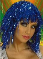 Perücke Disco blau
